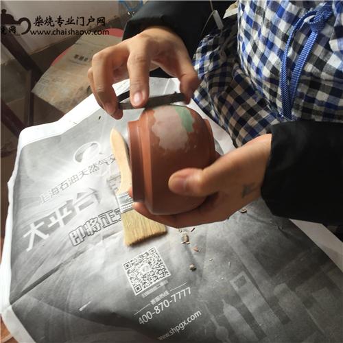 建水紫陶书画刻填柴烧壶最全制作工艺流程详解