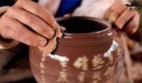 建水紫陶无釉磨光工艺